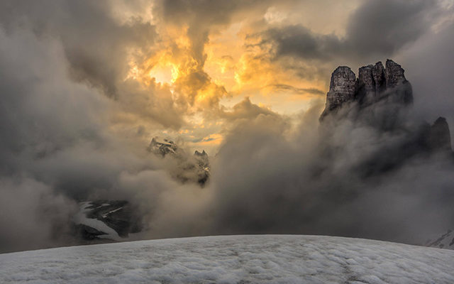 Gewitter in den Alpen. Bild: Imago
