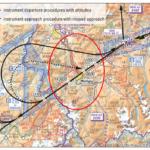 Luftraum E im Raum Martigny: IFR und VFR
