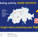 Parachuting activity AVOID HOTSPOTS