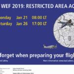 [:de]WEF: Einschränkungen im Luftraum[:fr]WEF: restrictions de circulation dans l'espace aérien [:]