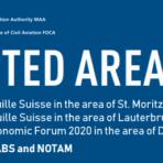 [:de]Luftraumeinschränkungen Januar 2020 (St. Moritz, Lauberhornrennen, WEF Davos)[:fr]Restrictions de l'espace aérien janvier 2020 (St. Moritz, descente du Lauberhorn, WEF Davos)[:]