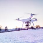 Drohnen fliegen im Winter